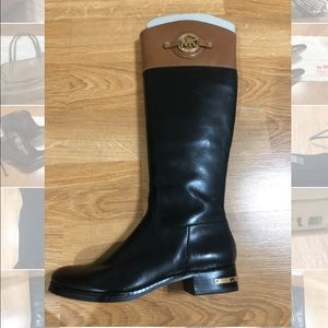 Michael Kors two tone leather boots